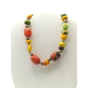 Colorful Dyed Natural Stones Chunky Choker Howlite